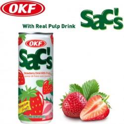 OKF Sac Sac Strawberry jahodový nápoj, 240ml plech