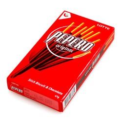 Pepero Original - sladké tyčinky s čokoládou, Lotte, 47g